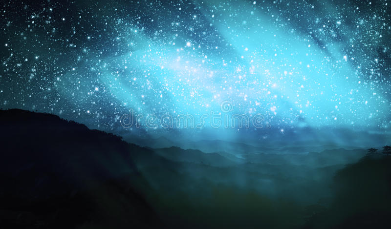 Download Aurora borealis stock illustration. Image of landscape - 27955534