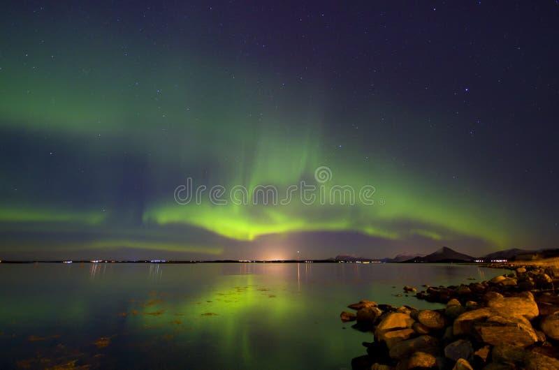 Aurora borealis imagens de stock