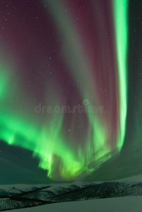 Aurora Borealis arkivfoton