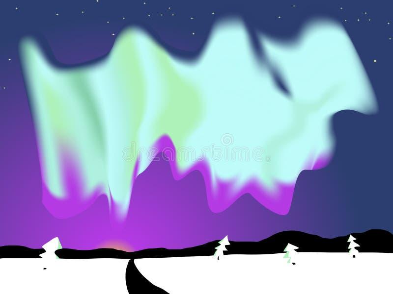 aurora borealis ελεύθερη απεικόνιση δικαιώματος