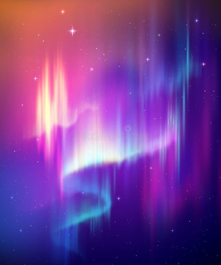 Free Aurora Borealis Abstract Background, Northern Lights In Polar Night Sky Illustration, Natural Phenomenon, Cosmic Miracle, Wonder, Royalty Free Stock Photography - 183794407