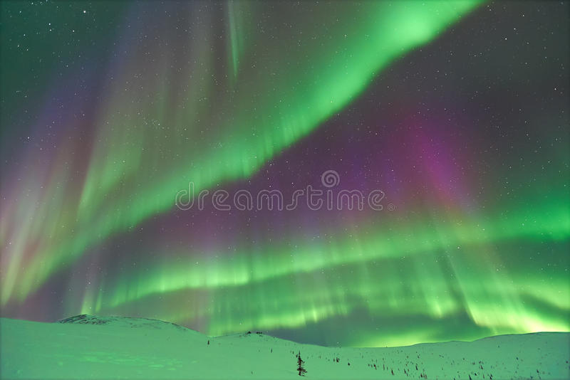 Aurora Borealis in Alaska stock images