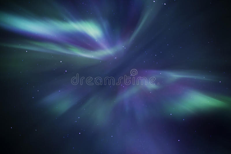 Aurora borealis. Also known as northern lights in Iceland stock photos
