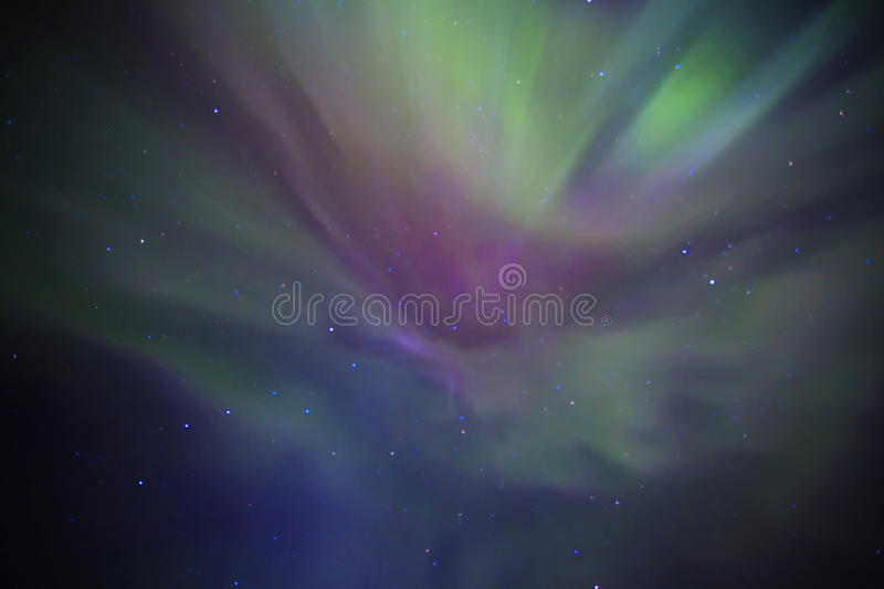 Aurora borealis. Also known as northern lights in Iceland royalty free stock images