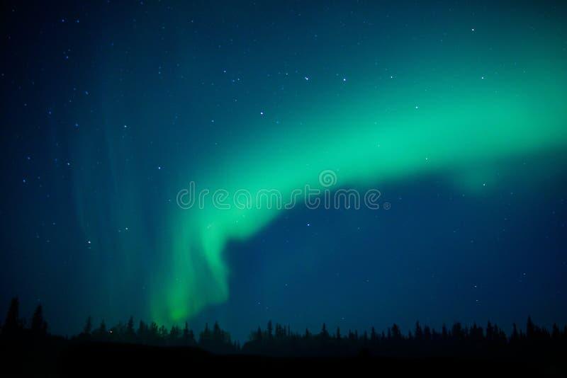 Aurora borealis como fenómeno mágico del cielo septentrional fotos de archivo libres de regalías