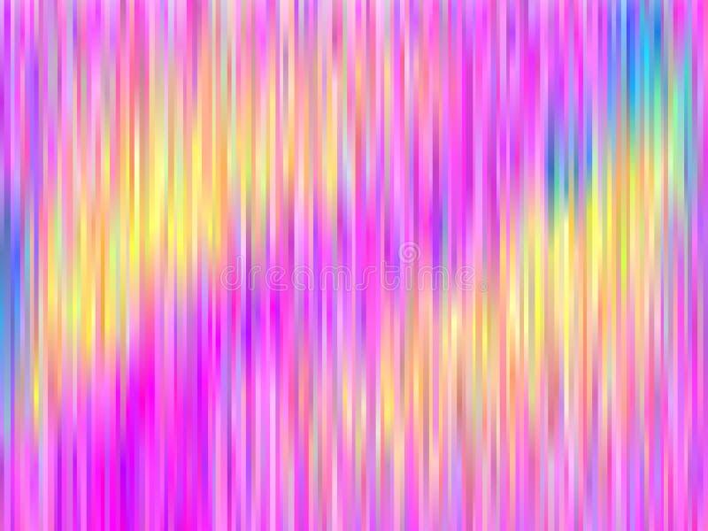 Aurora borealis d'arc-en-ciel Fond coloré abstrait Illustration lumineuse de vecteur de modèle rayé illustration libre de droits