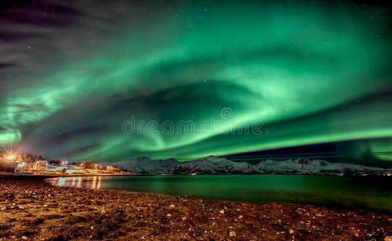 Aurora Borealis di stupore fotografia stock libera da diritti