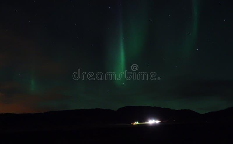 Aurora Borealis die op Hveragerdi glanzen royalty-vrije stock afbeelding