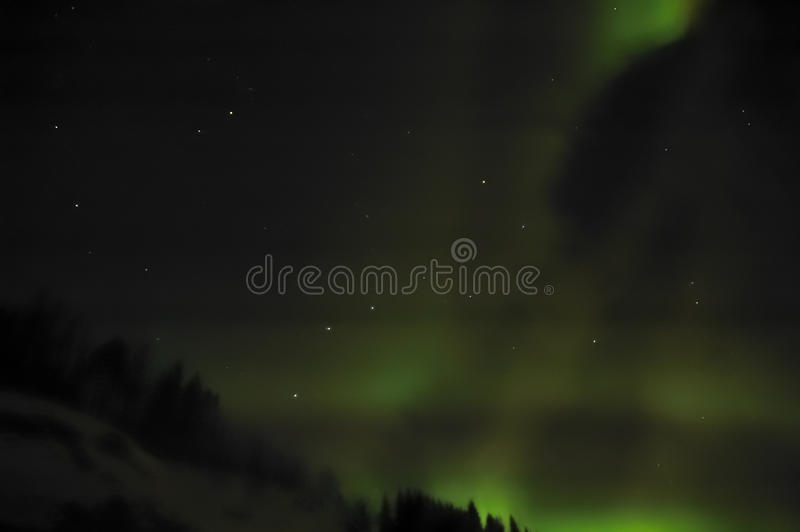 Aurora Borealis (indicatori luminosi nordici) immagine stock