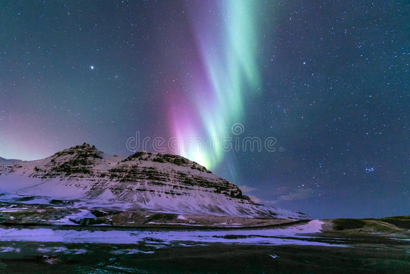 Aurora borealis Islanda fotografia stock libera da diritti