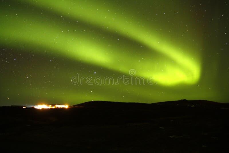 Aurora Borealis Light Show stock foto