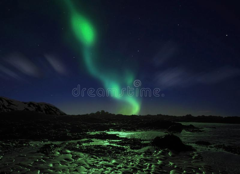 Aurora Borealis, luzes do norte foto de stock