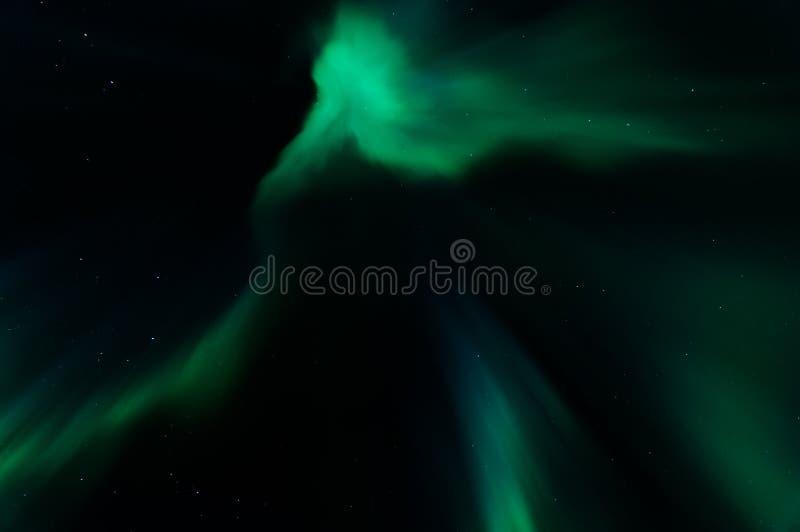 Aurora borealis nel kattisberg, Svezia fotografie stock