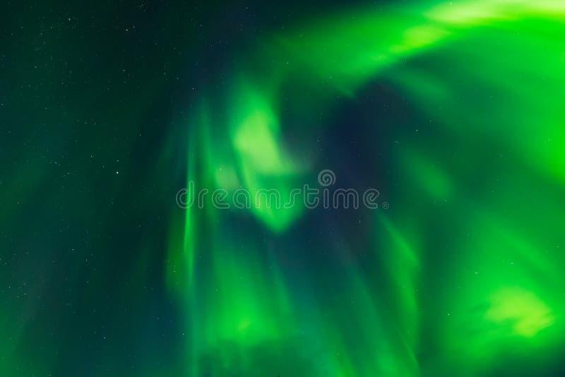 Aurora Borealis, Noordelijke lichten, corona lucht stock afbeelding