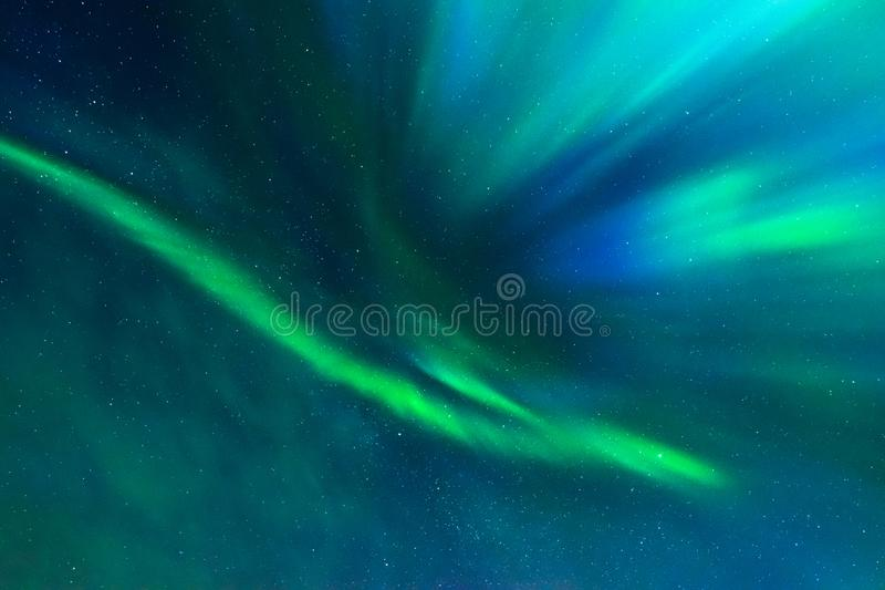 Aurora Borealis, Noordelijke lichten, corona lucht stock foto
