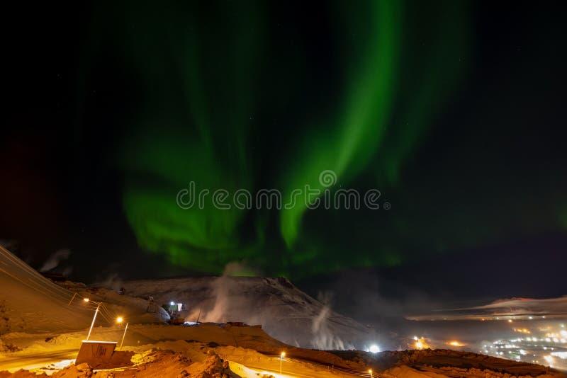 Aurora Borealis Norilsk arkivbilder