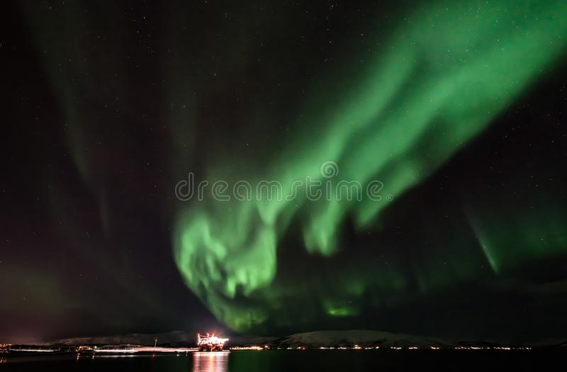 Aurora Borealis - scandinavia stock photography
