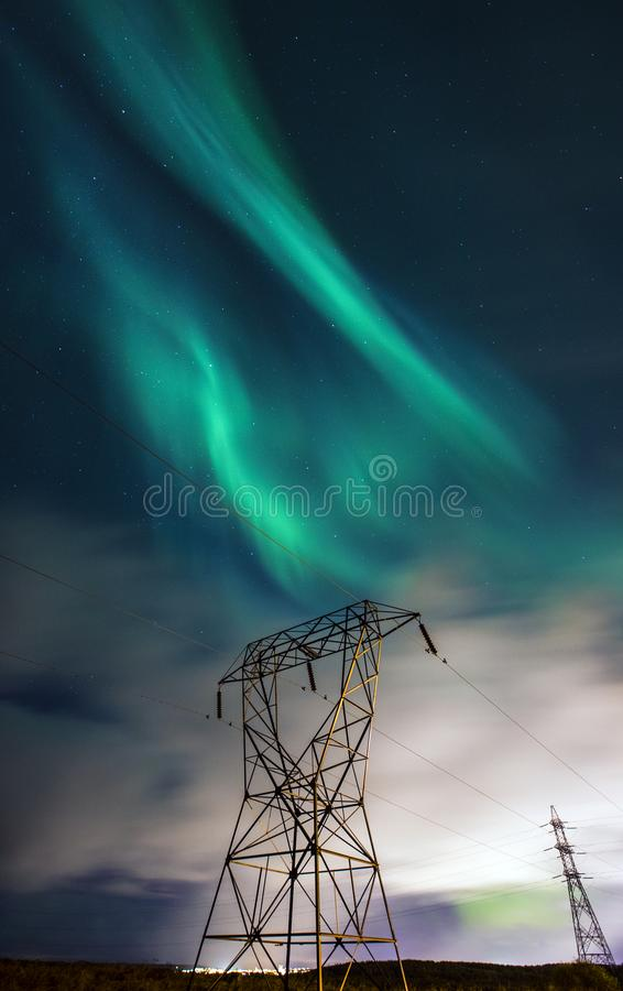 Aurora Borealis Northern Lights i Island royaltyfri bild