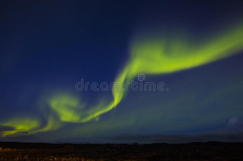 Aurora Borealis Northern Lights i Island royaltyfri foto