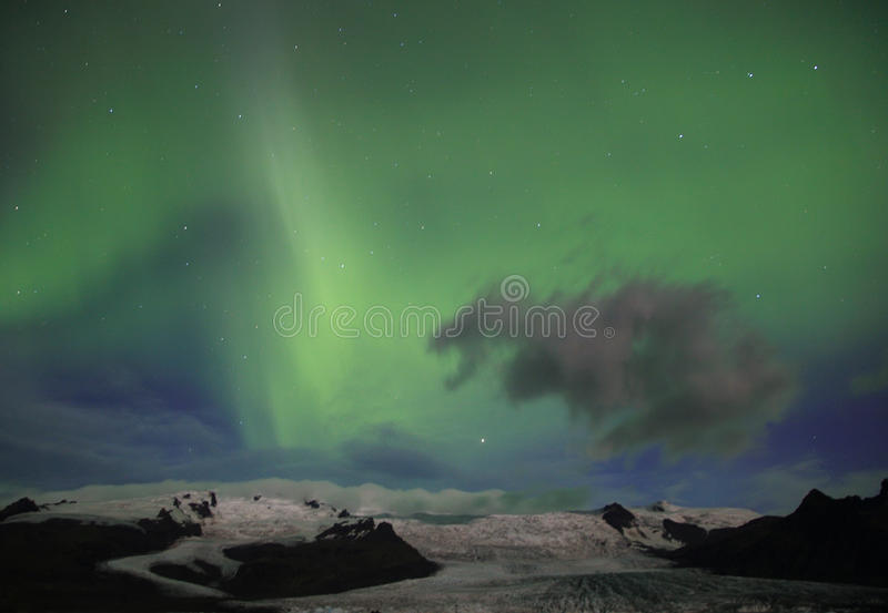 Aurora borealis or the northern lights royalty free stock photography