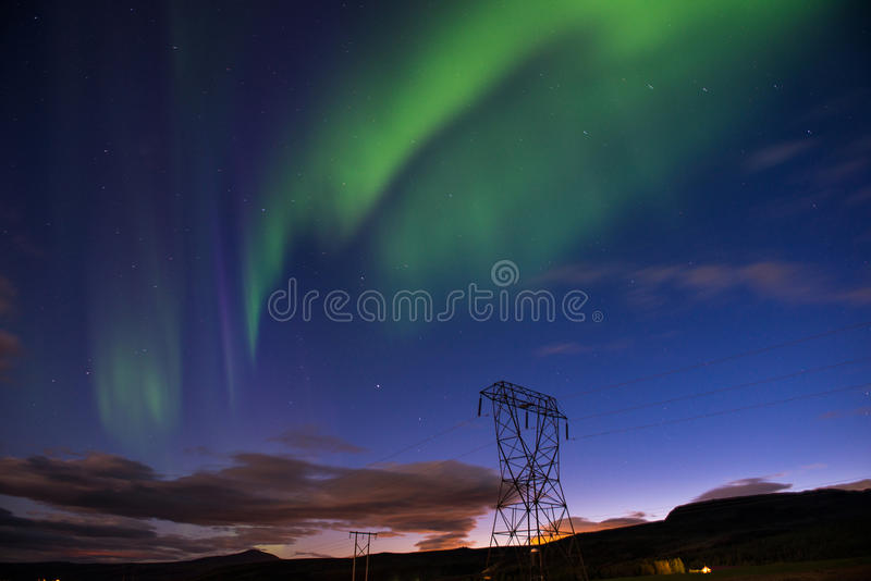 Aurora borealis or Northern lights, Iceland royalty free stock photography