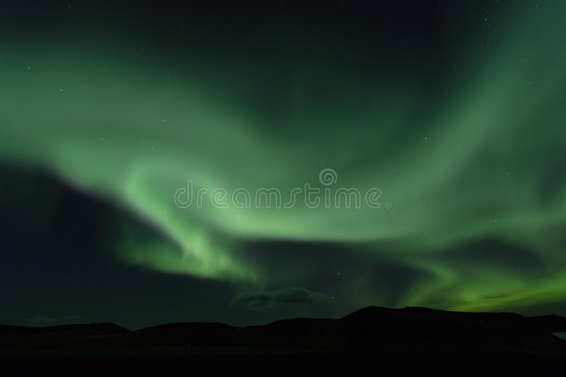 Aurora borealis. Northern lights in Iceland stock images