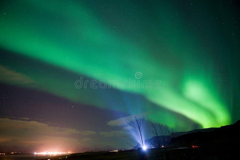 Aurora Borealis in Iceland stock photos