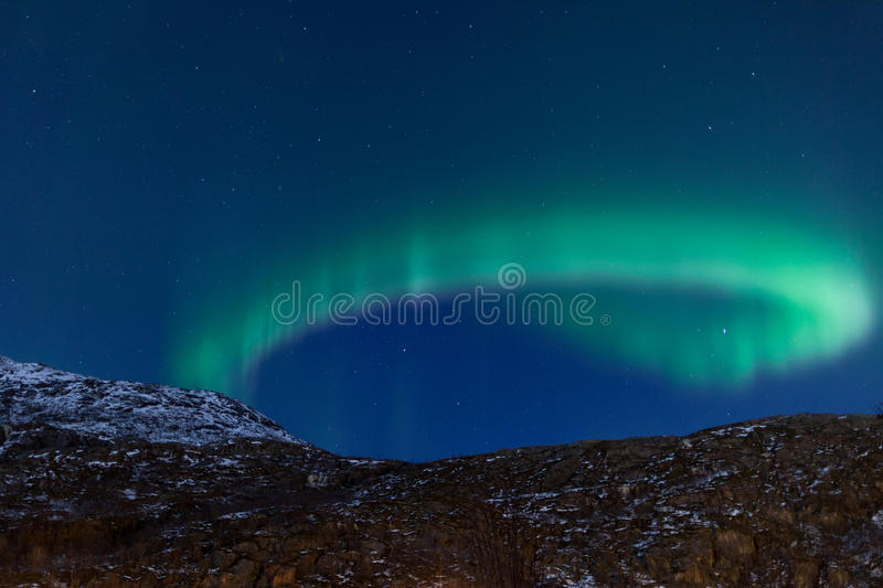 Aurora Borealis (Northern lights) reflecting royalty free stock photography