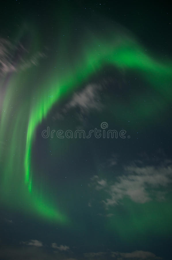 Aurora borealis or Northern lights in the sky, Iceland stock photo
