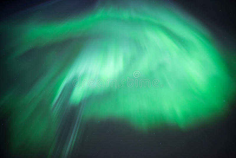 Aurora Borealis or Northern Lights. True geomagnetic storm in Norway stock photo