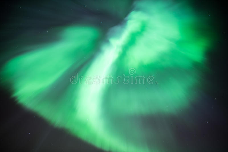 Aurora Borealis or Northern Lights. True geomagnetic storm in Norway stock photos