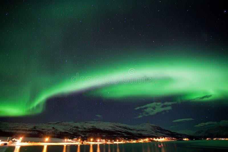 Aurora borealis, Noruega, Tromso foto de archivo
