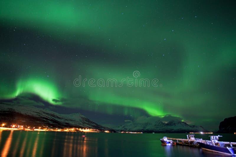 Aurora borealis, Noruega, Tromso imágenes de archivo libres de regalías