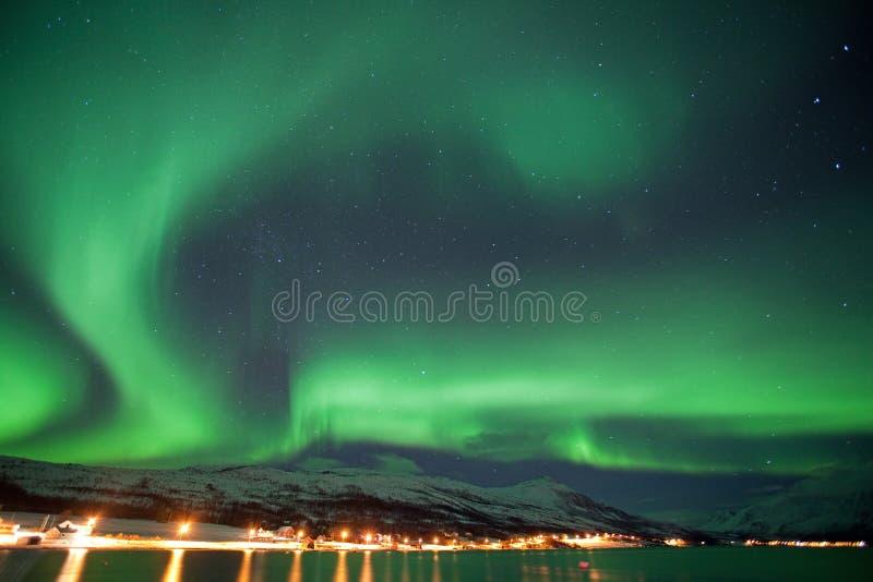 Aurora borealis, Noruega, Tromso fotografía de archivo libre de regalías