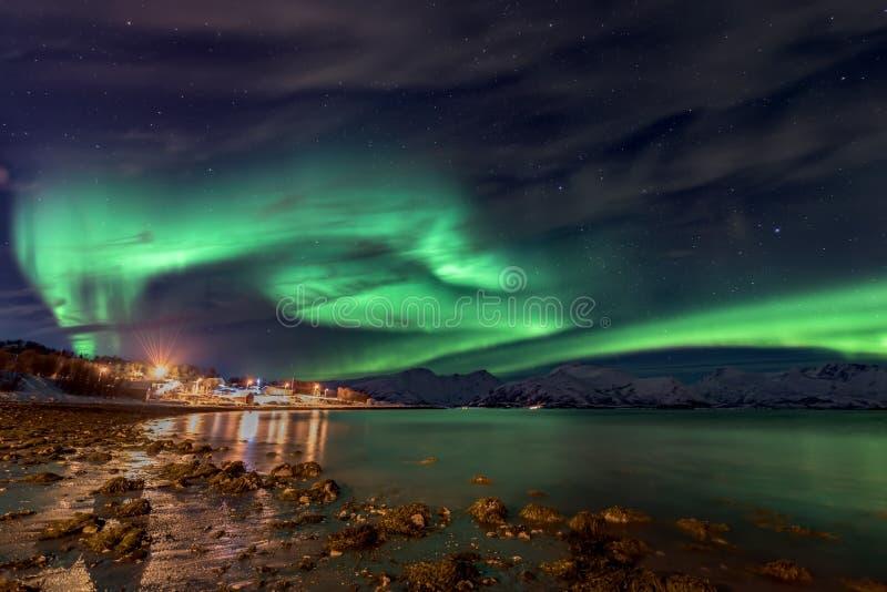 Aurora Borealis - Norvegia del nord fotografia stock