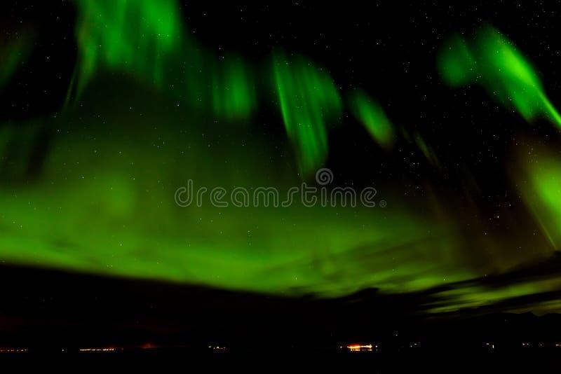 Aurora borealis o aurora boreal en el cielo en Tromso, Noruega fotos de archivo libres de regalías
