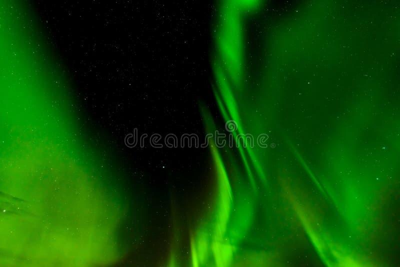Aurora borealis o aurora boreal en Lofoten, Noruega fotos de archivo