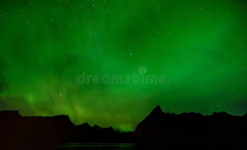 Aurora borealis o aurora boreal, Noruega foto de archivo