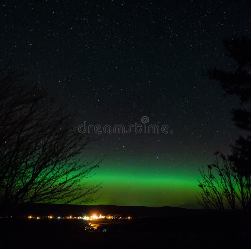 Aurora borealis ou aurora boreal imagem de stock