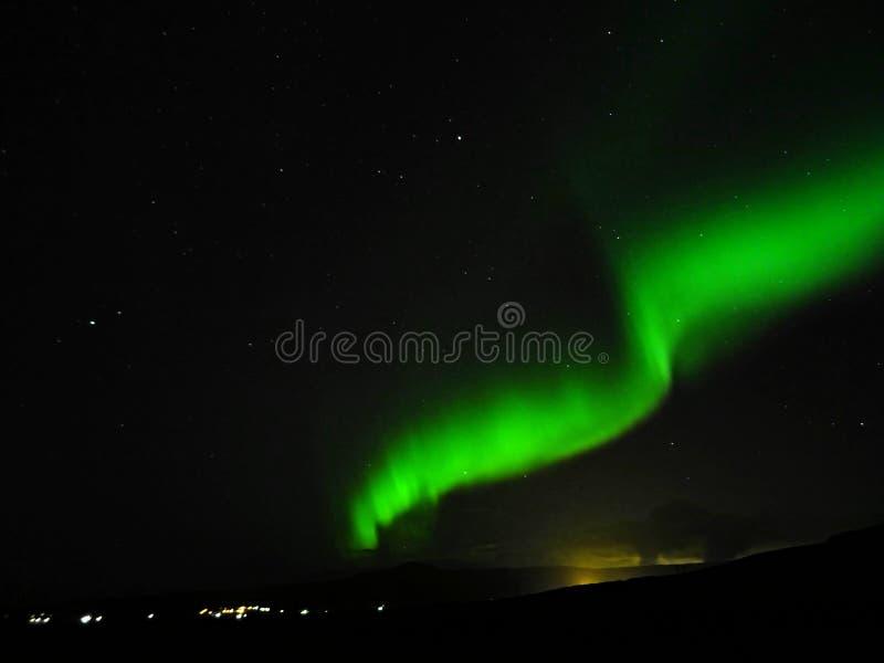 Aurora Borealis over Hveragerdi royalty-vrije stock foto