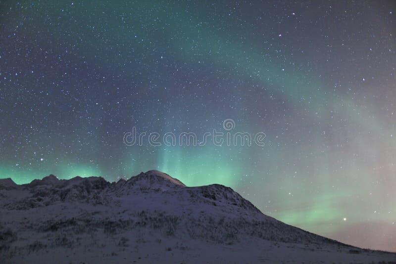 Download Aurora Borealis Over A Mountain Stock Photo - Image: 14225838