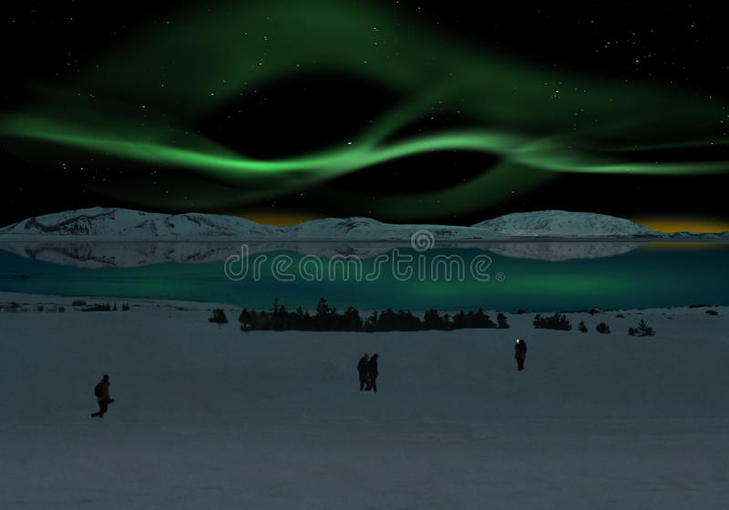 Download Aurora Borealis stock image. Image of green, nordic, long - 89483009