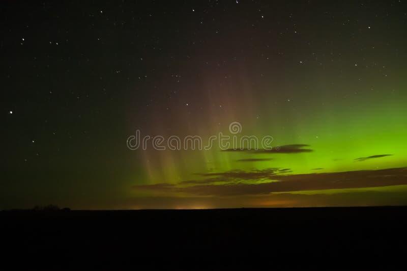 Aurora Borealis Pillars vermelha fotos de stock