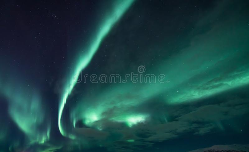 Aurora Borealis - Scandinavië royalty-vrije stock afbeelding