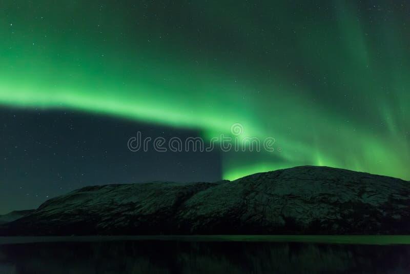 Aurora Borealis Scenery de Noruega imágenes de archivo libres de regalías