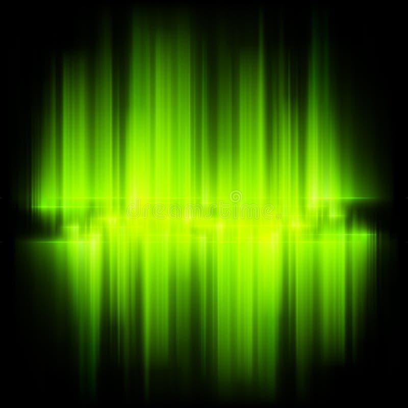 Aurora Borealis. Sumário colorido.  ilustração stock