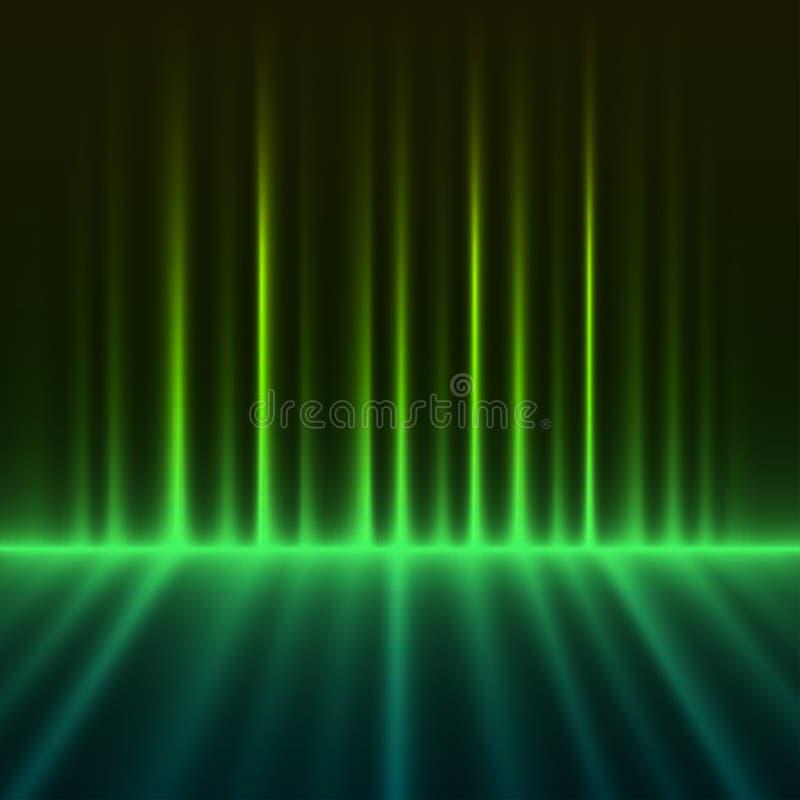 Aurora borealis verde abstrato ilustração royalty free