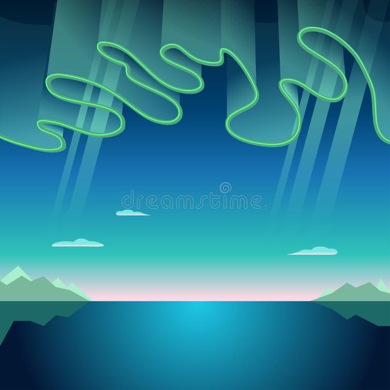Aurora Borealis Vetora Illustration ilustração royalty free