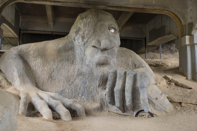 Aurora bridge troll Seattle Washington royalty free stock photos