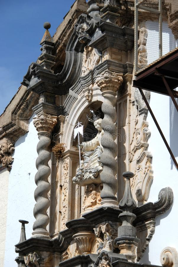 Aurora church detail, Priego de Cordoba. stock photography